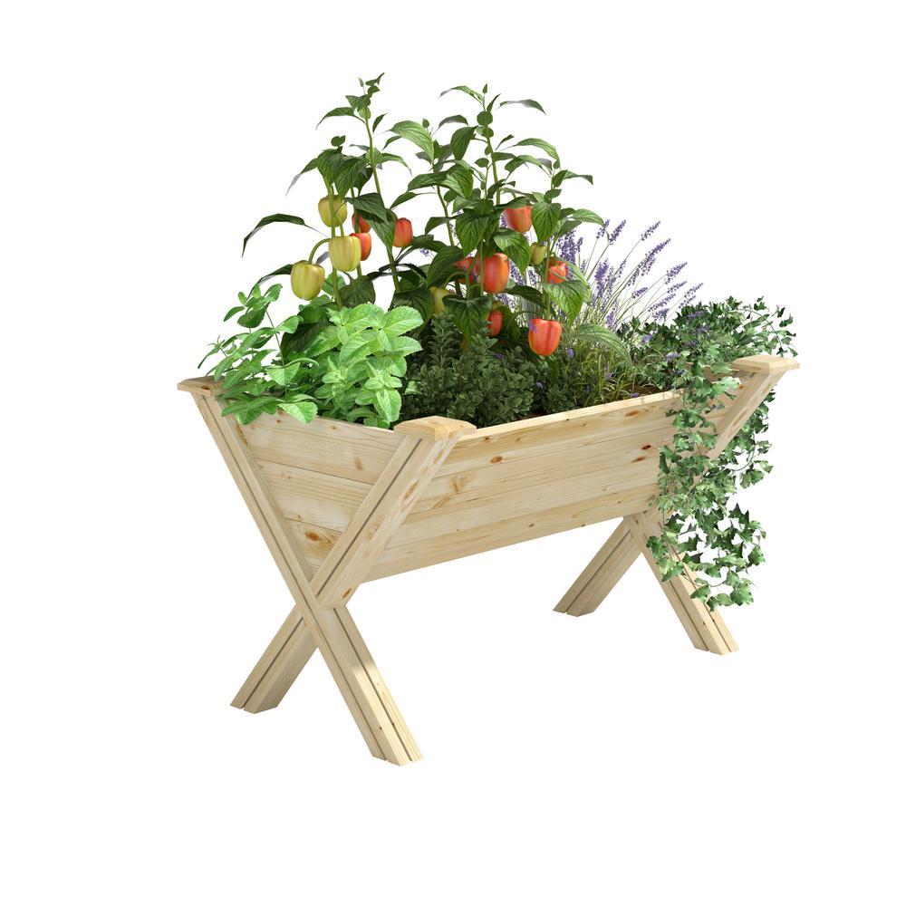 V-Shaped Elevated Wood Garden Bed