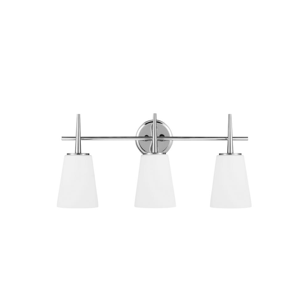 Driscoll 3-Light Chrome Bath Light with LED Bulbs