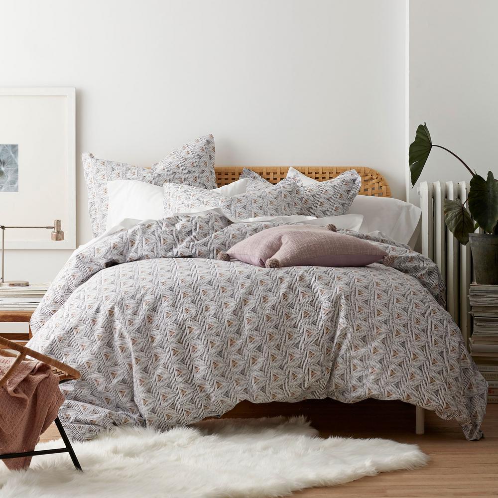 Zahra Organic Cotton Percale Duvet Cover Set
