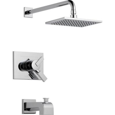 Vero 1-Handle Tub and Shower Faucet Trim Kit in Chrome (Valve Not Included)