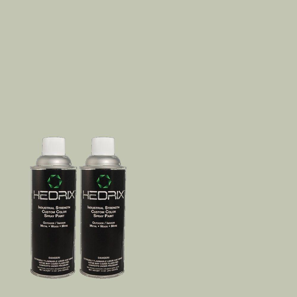 Hedrix 11 oz. Match of MQ6-18 Recycled Glass Flat Custom Spray Paint (8-Pack)