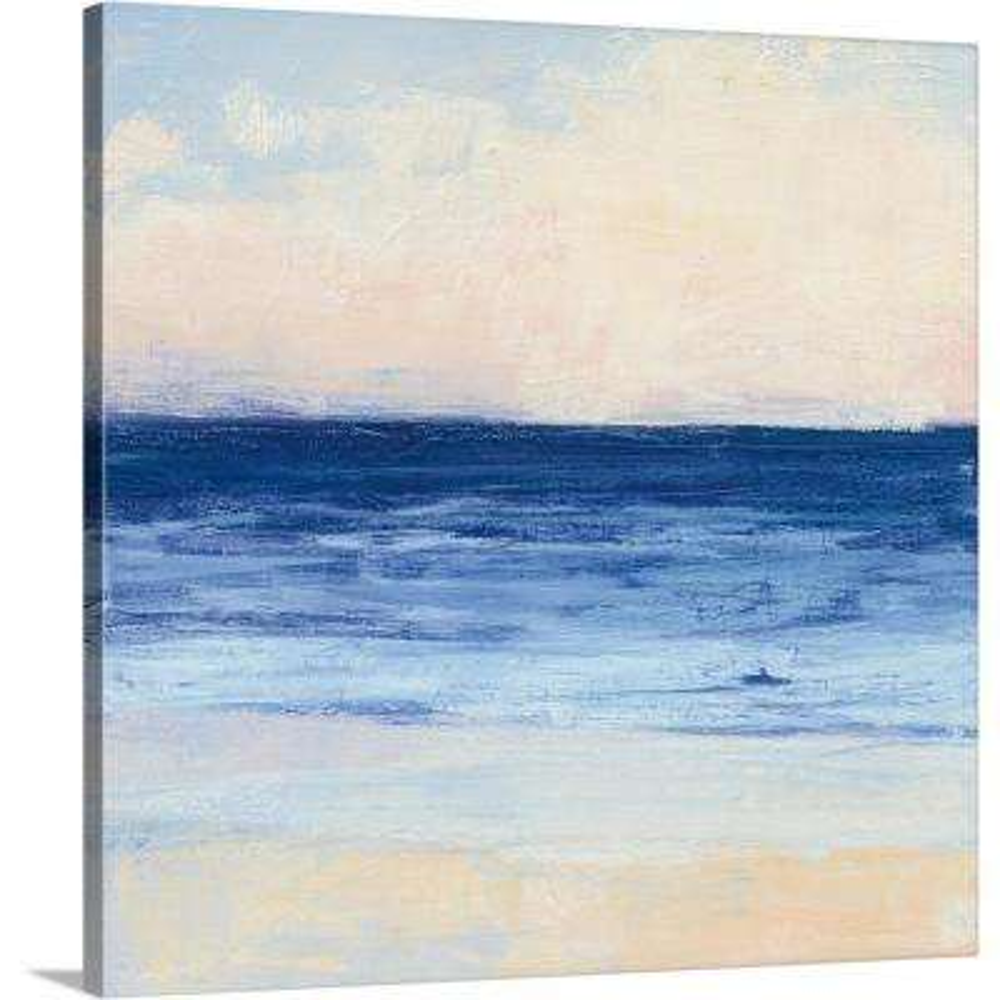 """True Blue Ocean I"" by  Julia Purinton Canvas Wall Art"