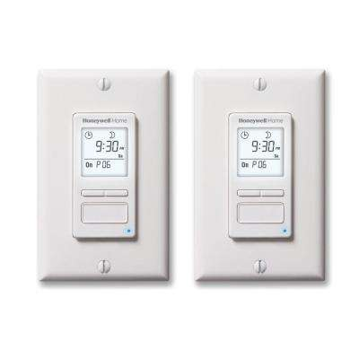 7-Day/Solar Programmable Timer for Lights and Motors (2-Pack)