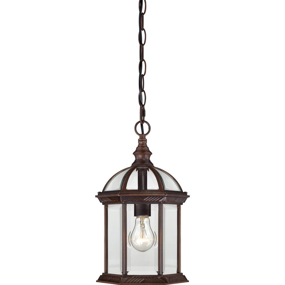 Haven Rustic Bronze 1-Light Outdoor Hanging Lantern