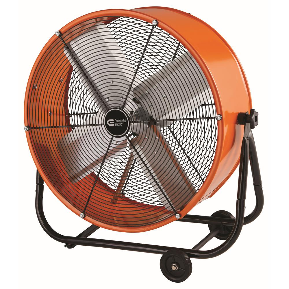 Heavy Duty Fan >> Commercial Electric 24 In Heavy Duty 2 Speed Direct Drive Tilt Drum Fan