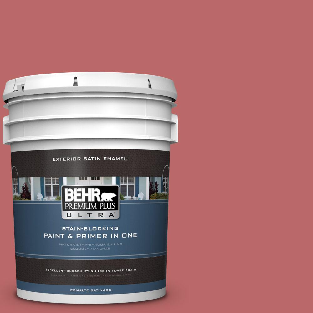 5 gal. #MQ1-11 Drama Queen Satin Enamel Exterior Paint and Primer