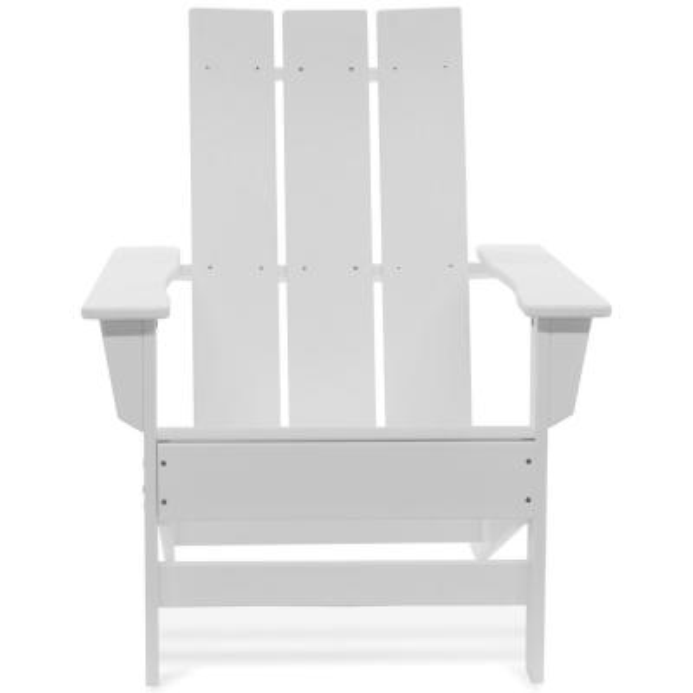 Aria White Recycled Plastic Modern Adirondack Chair