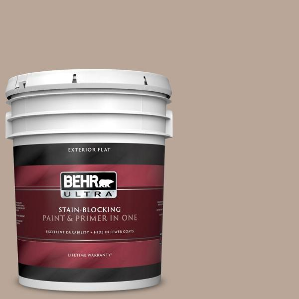 Reviews For Behr Ultra 5 Gal Bxc 43 Desert Sandstorm Flat Exterior Paint And Primer In One 485405 The Home Depot