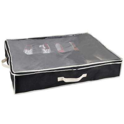 23.6 in. x 6 in. Black Shoe Bin