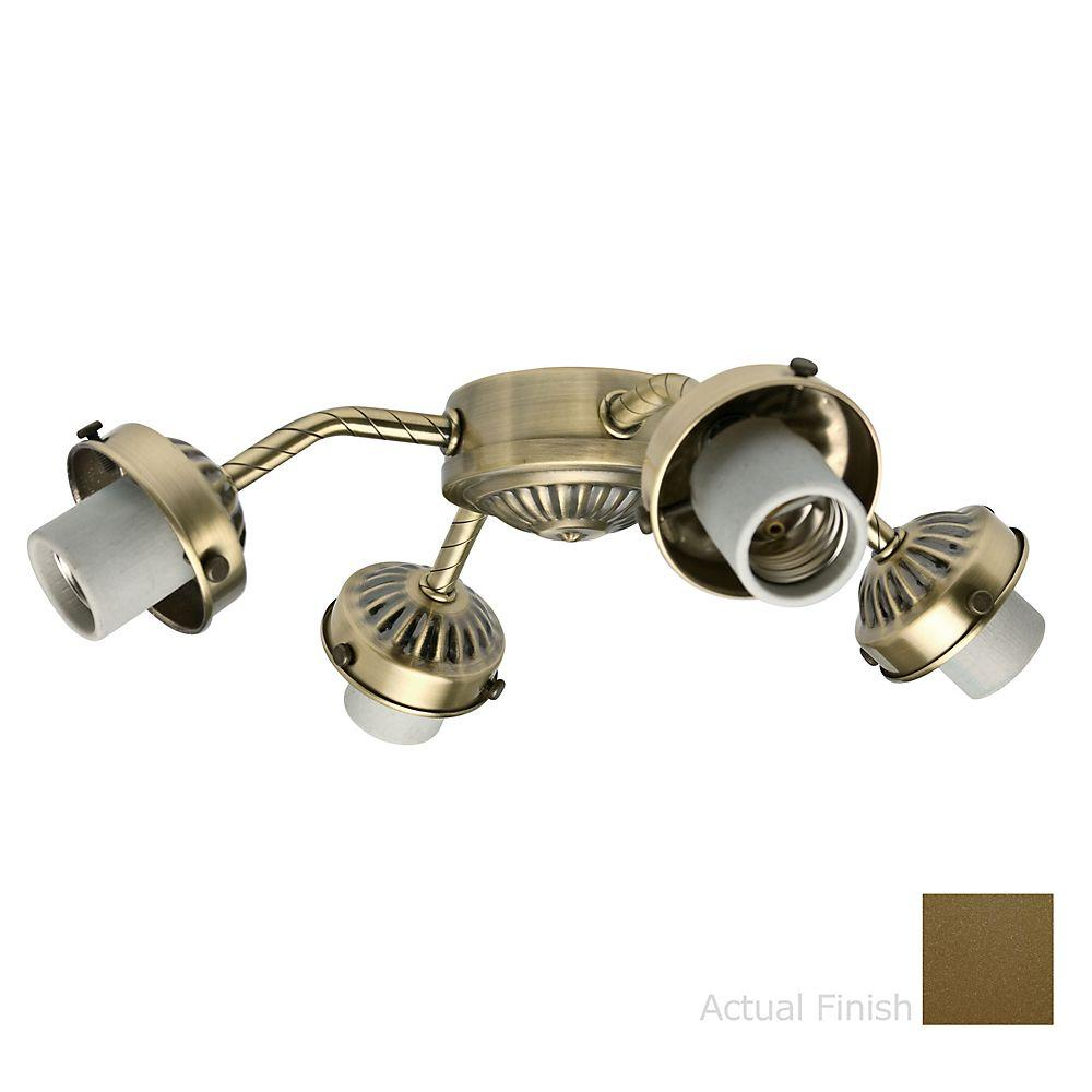 Casablanca 4-Light Oil Rubbed Bronze Straight-Arm Thumbscrew Fitter Light Kit-DISCONTINUED