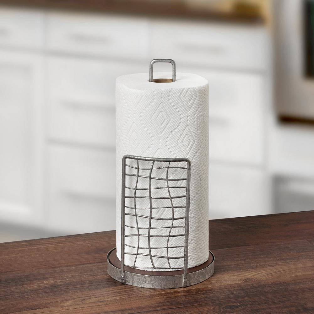 Kitchen Roll Holder Paper Towel Dispenser Stand Organiser Stainless Steel Red