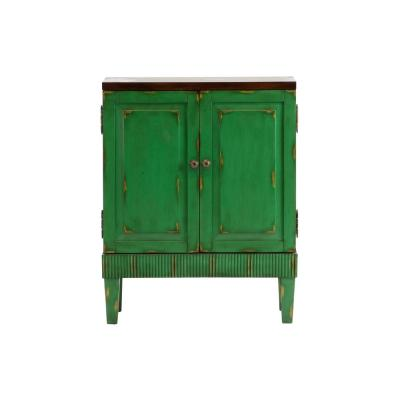 Hand painted Distressed Green Accent Chest