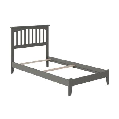 Mission Twin XL Traditional Bed in Grey