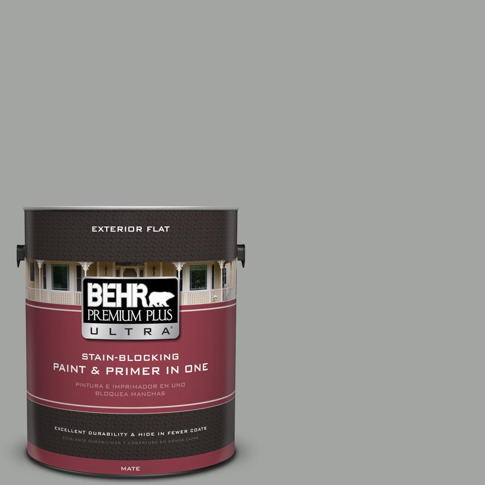 1 gal. #PPU24-18 Great Graphite Flat Exterior Paint