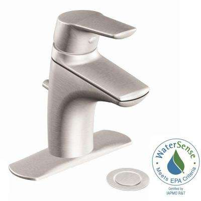 Method Single Hole Single Handle Bathroom Faucet in Brushed Nickel