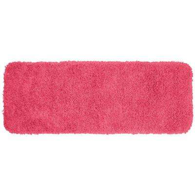 Jazz Pink 22 in. x 60 in. Washable Bathroom Accent Rug