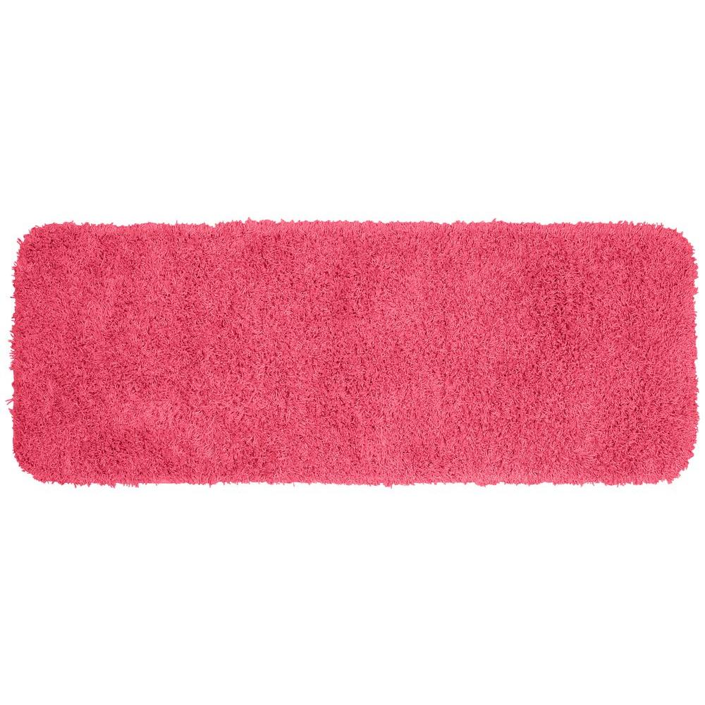 Garland Rug Jazz Pink 22 in. x 60 in. Washable Bathroom Accent Rug