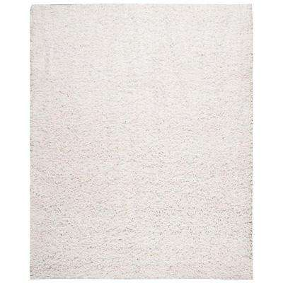 Zen White 5 ft. 6 in. x 7 ft. 5 in. Area Rug