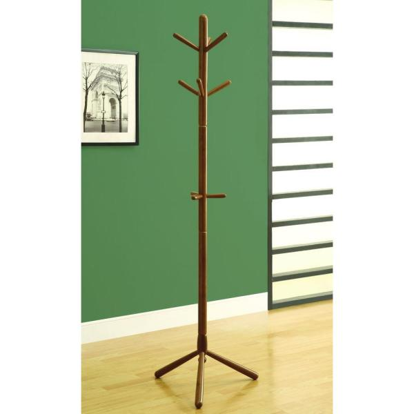 Monarch Specialties Oak 9-Hook Coat Rack I 2003