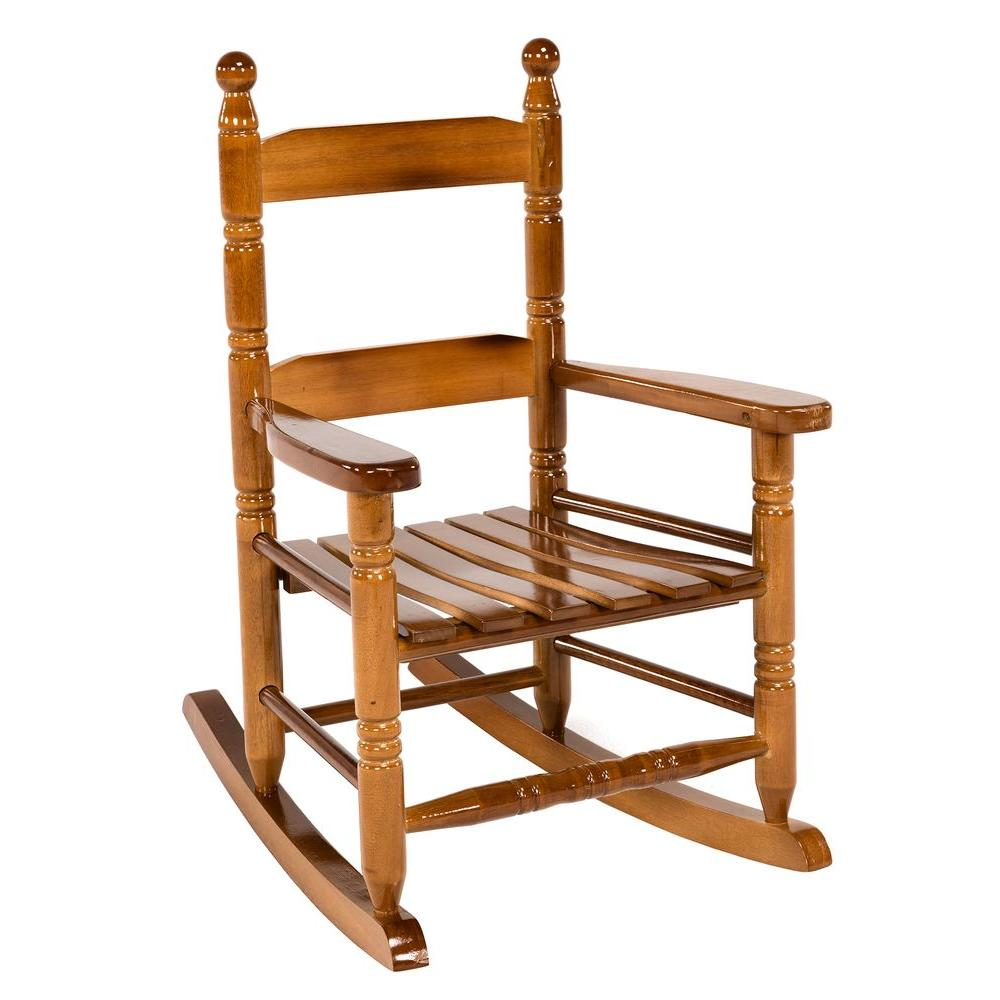Jack Post Oak Children S Patio Rocker 08101784 The Home Depot