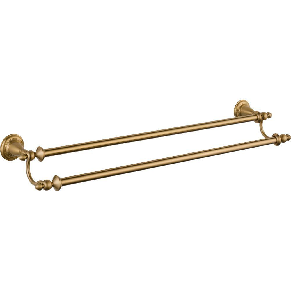 Delta Victorian 24 in. Double Towel Bar in Champagne Bronze