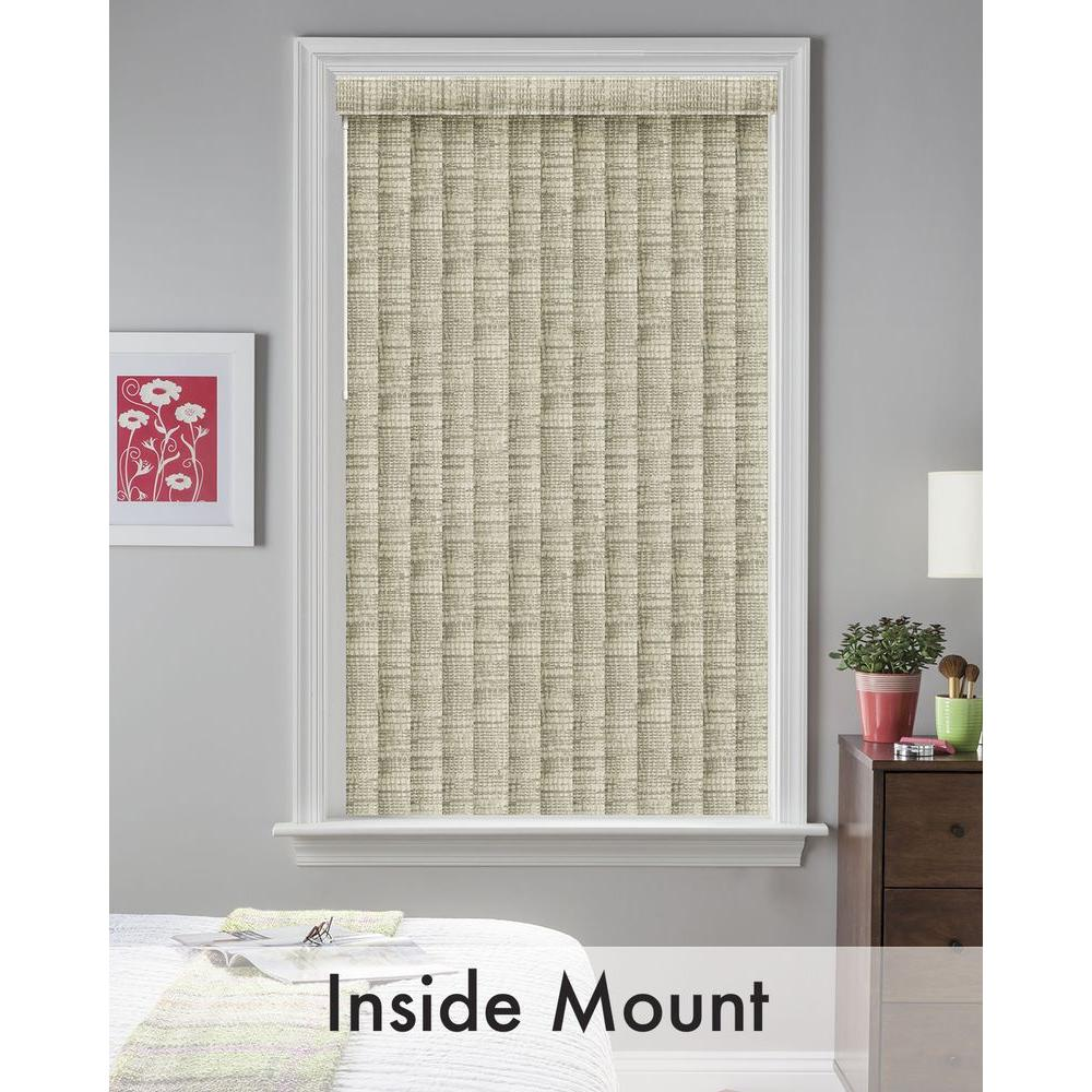 Bali Cut-to-Size Tweed Gray 3.5 in. PVC Louver Set - 74.5 in. L (9-Pack)