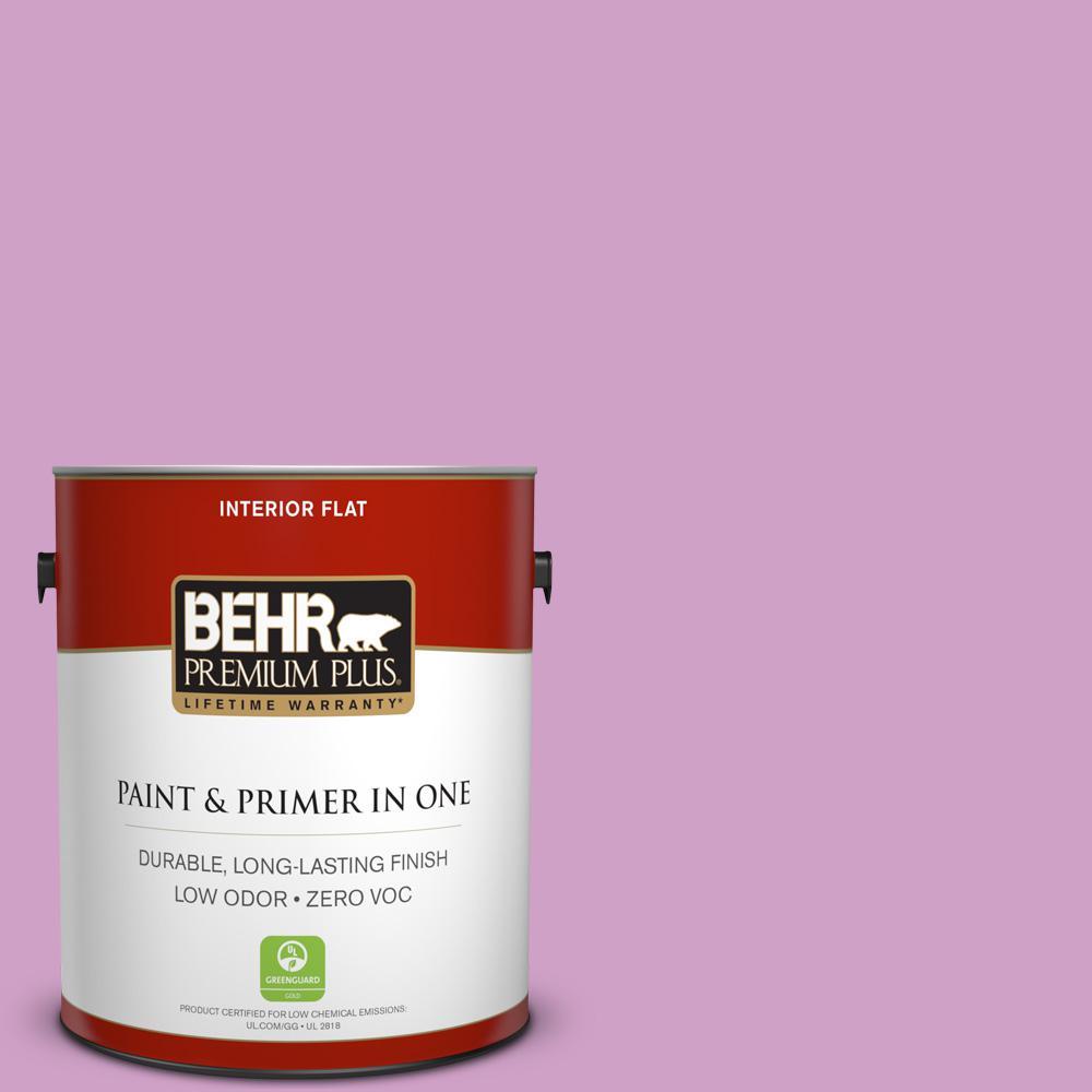 BEHR Premium Plus 1-gal. #670B-4 Geranium Bud Zero VOC Flat Interior Paint