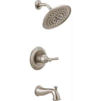 Mylan Single-Handle 3-Spray Tub and Shower Faucet with H2Okinetic in SpotShield Brushed Nickel