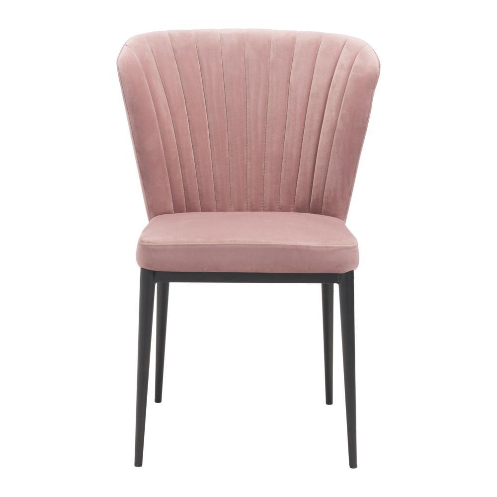 Tolivere Pink Velvet Dining Chair (Set of 2)