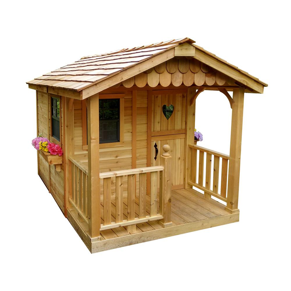 Outdoor living today 6 ft x 9 ft sunflower playhouse for Kids outdoor playhouse