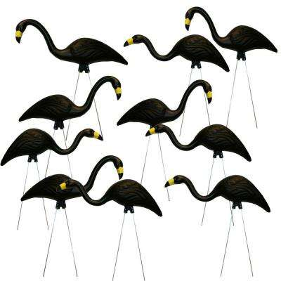 TEAMingos 26 in. Black Flamingo (10-Pack)