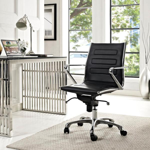 MODWAY Ascend Mid Back Office Chair in Black EEI-2214-BLK