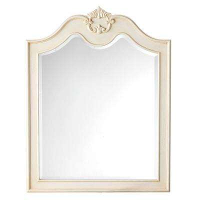 Marias 36 in. H x 28 in. W Mirror in Antique Cream Frame-DISCONTINUED