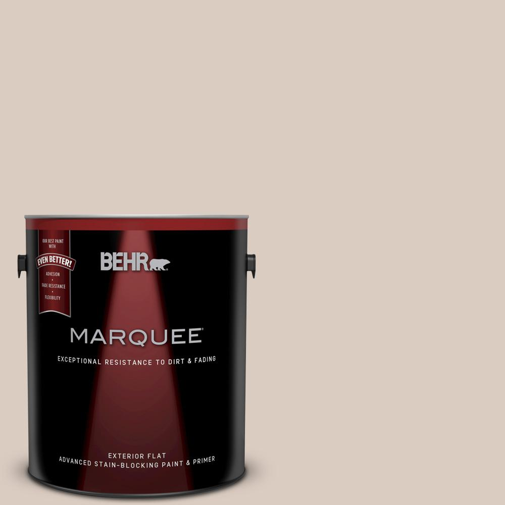Behr marquee 1 gal n190 2 stonewashed brown flat exterior paint and primer in one 445001 the for Behr exterior paint with primer reviews