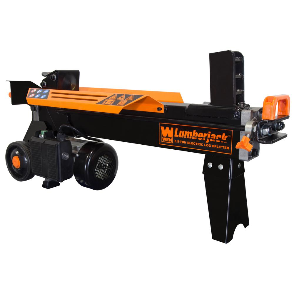 6.5-Ton Electric Log Splitter with Stand