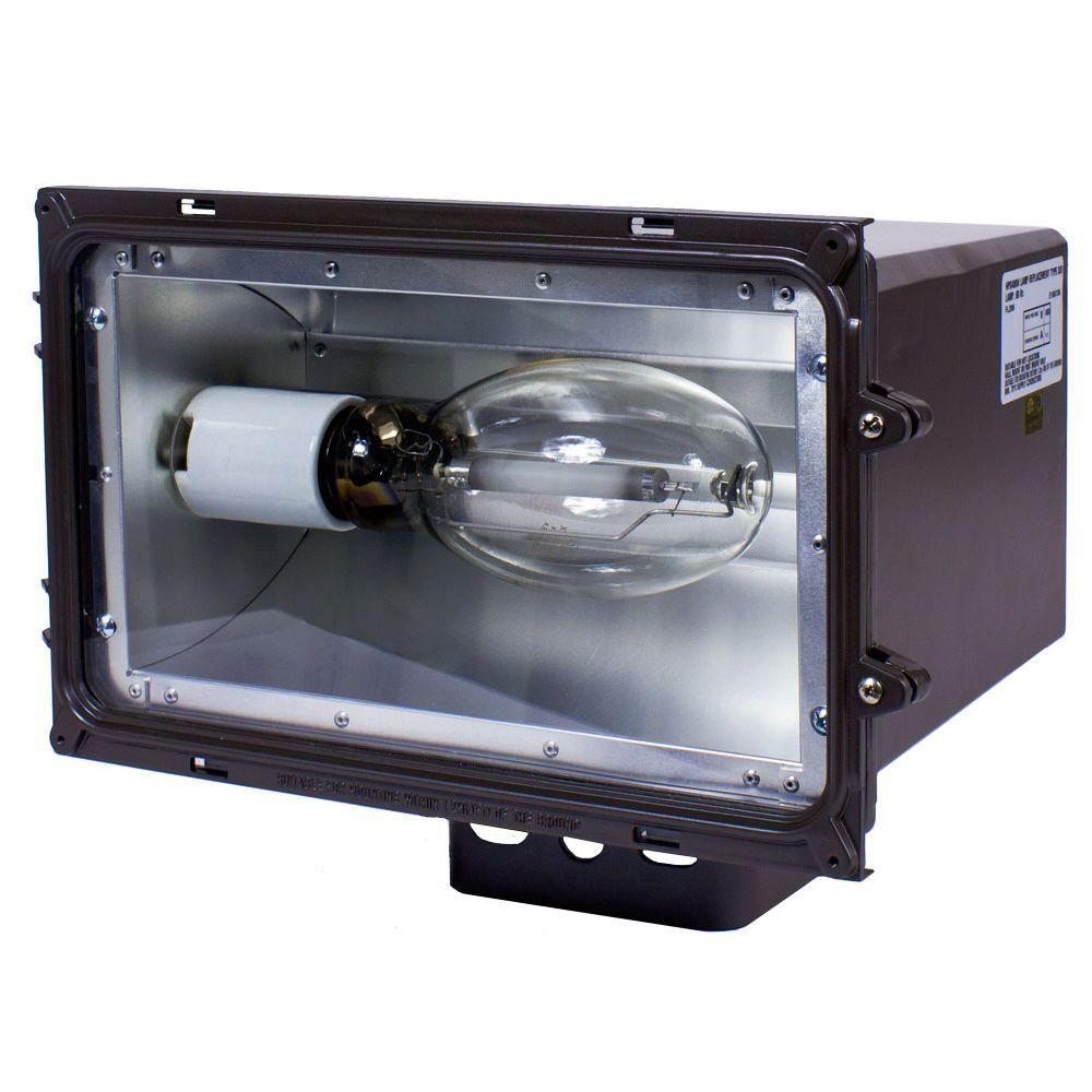 FLL Series 250-Watt Dark Bronze Outdoor HID Large Flood Lighting Fixture