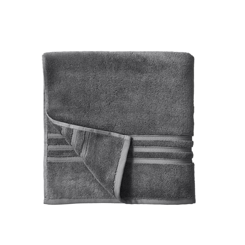 Home Decorators Collection Turkish Cotton Ultra Soft Bath Towel in Charcoal