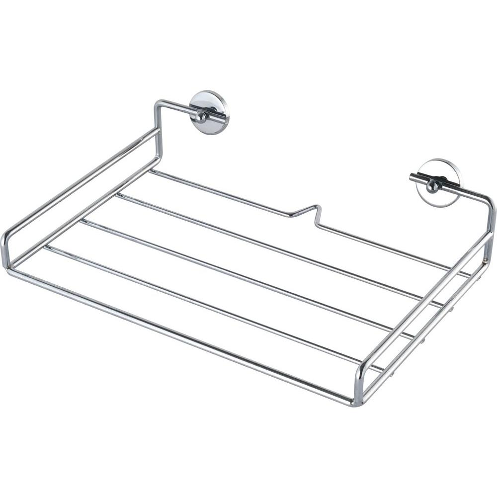 No Drilling Required Baath Plus 12 in. Towel Shelf in Chrome