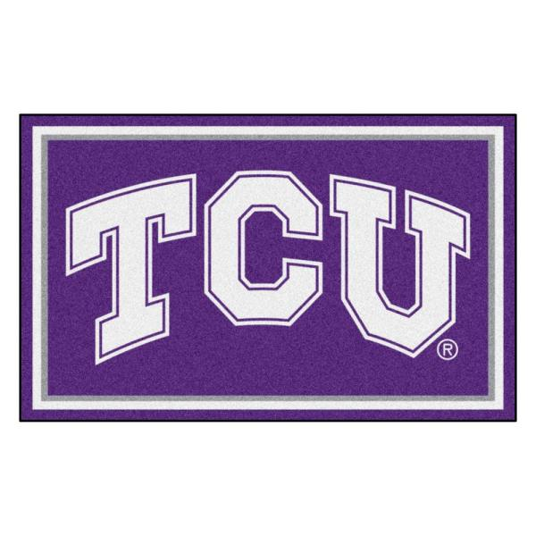 NCAA - Texas Christian University Purple 6 ft. x 4 ft. Indoor Area Rug