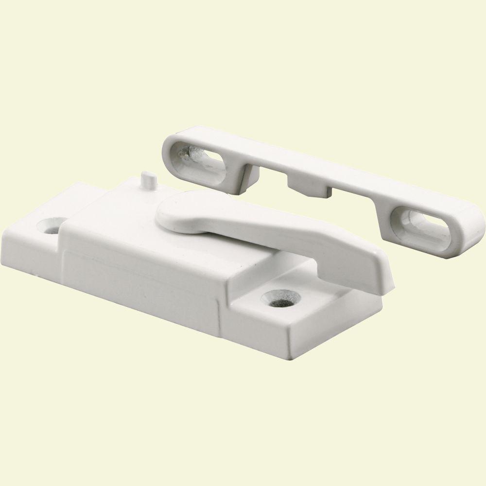 Better Bilt White Left-Hand Window Sash Lock with Keeper