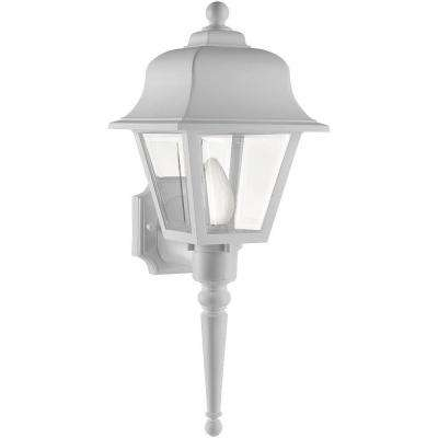 Liberty White Outdoor Wall-Mount Lantern