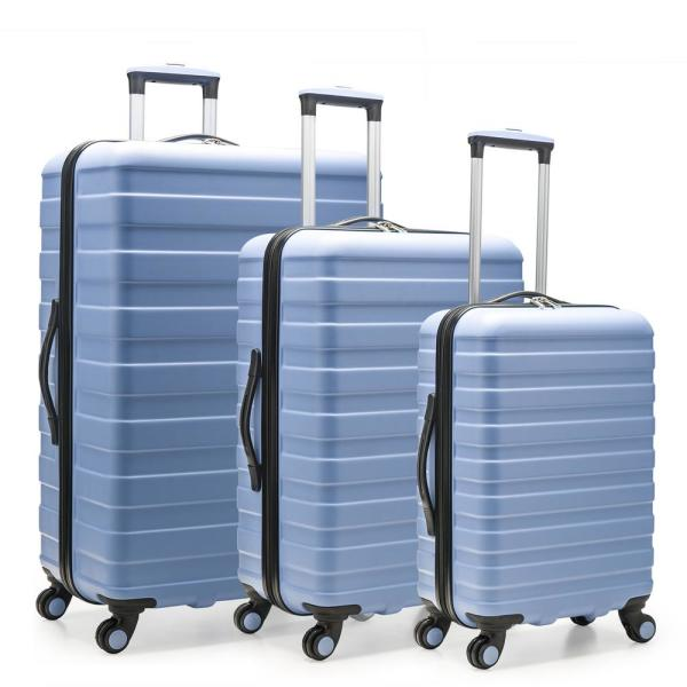 U.S. Traveler Cypress Colorful 3-Piece Sky Blue Hardside Spinner Luggage Set