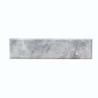 Tundra 4 in. x 16 in. Beveled Marble Wall Tile (10.56 sq. ft. / case)