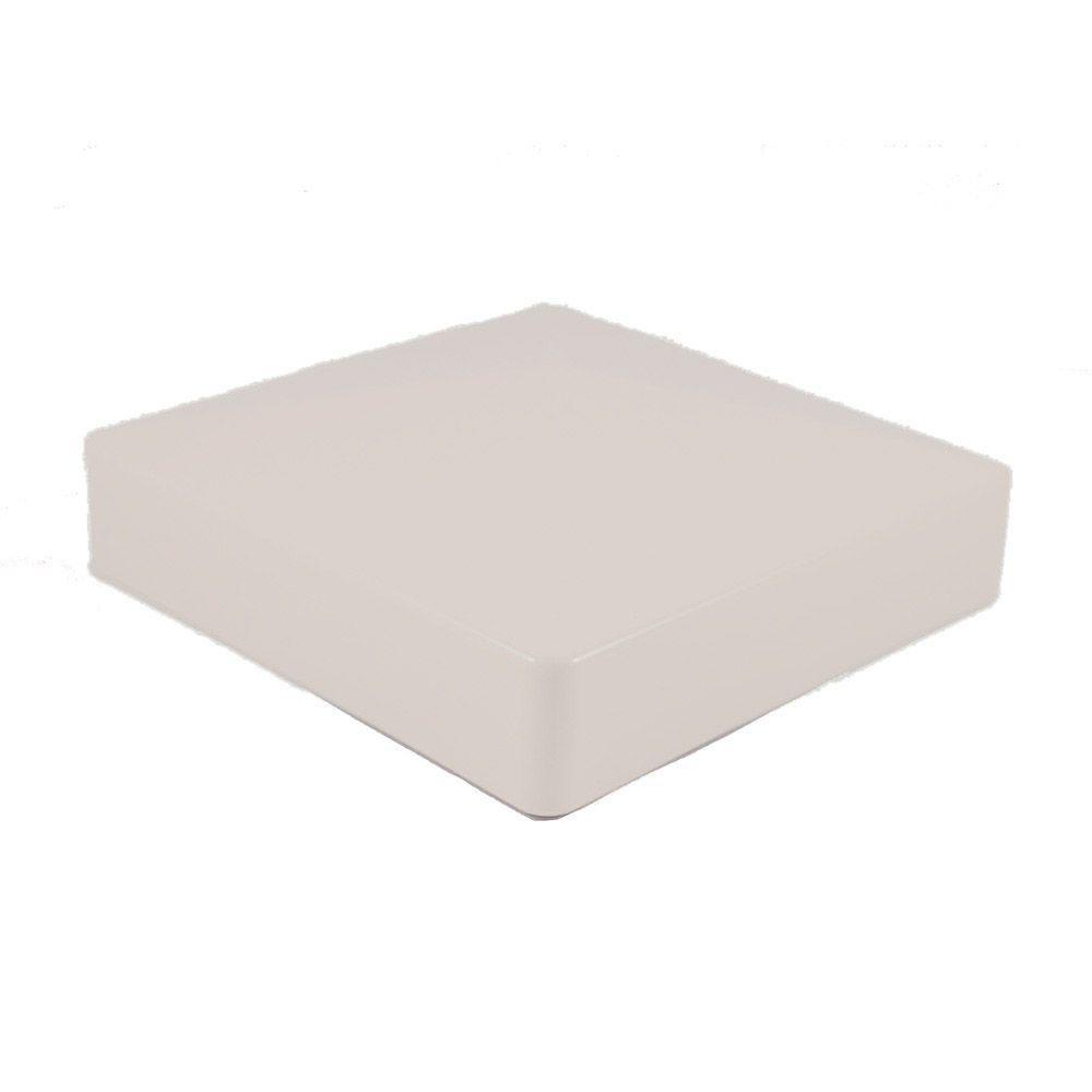 Weatherables in tan vinyl external pyramid post