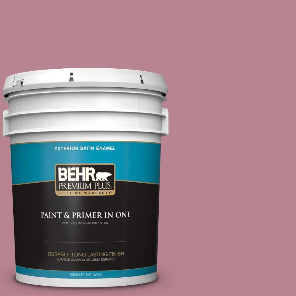 BEHR Premium Plus 5-gal. #BIC-19 Berry Blush Satin Enamel Exterior Paint