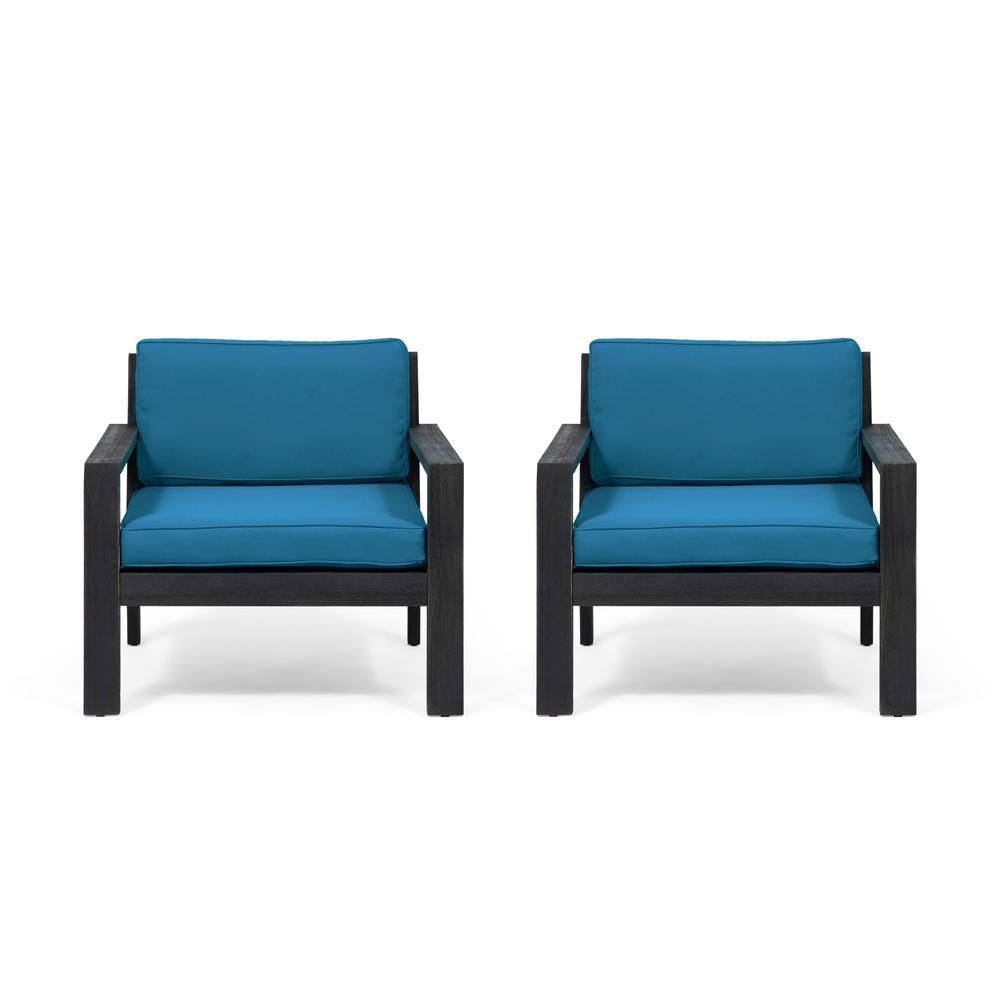 Bramblecrest Beaufort Teak Recliner With Cushion Blue