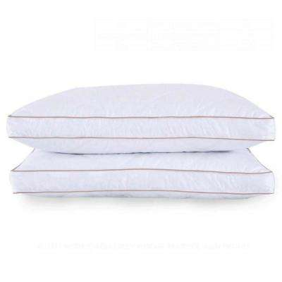 Quilted Goose Feather and Down Jumbo Pillow in Standard/Queen (Set of 2)