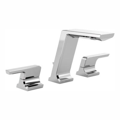 Pivotal 8 in. Widespread 2-Handle Bathroom Faucet with Metal Drain Assembly in Chrome