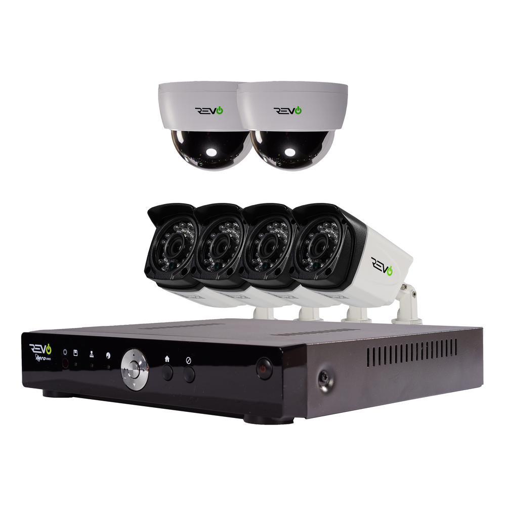 Aero 8-Channel HD 1TB Surveillance DVR with 6 Indoor/Outdoor Cameras