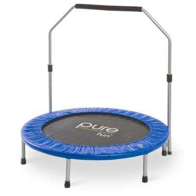 40 in. Exercise Trampoline with Handrail